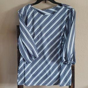 Vintage Canasta Diagonal Stripe top